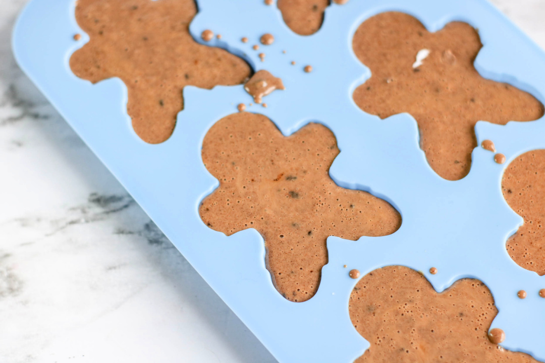 gingerbread man soap in silicone mold