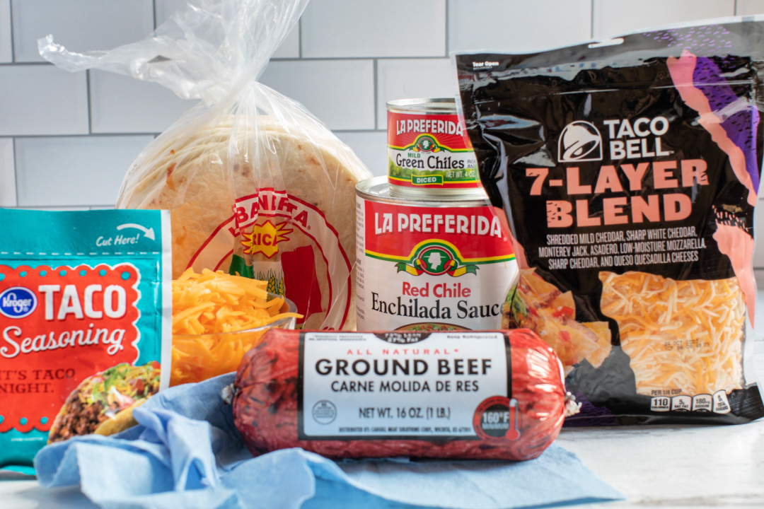 ingredients for beef enchiladas
