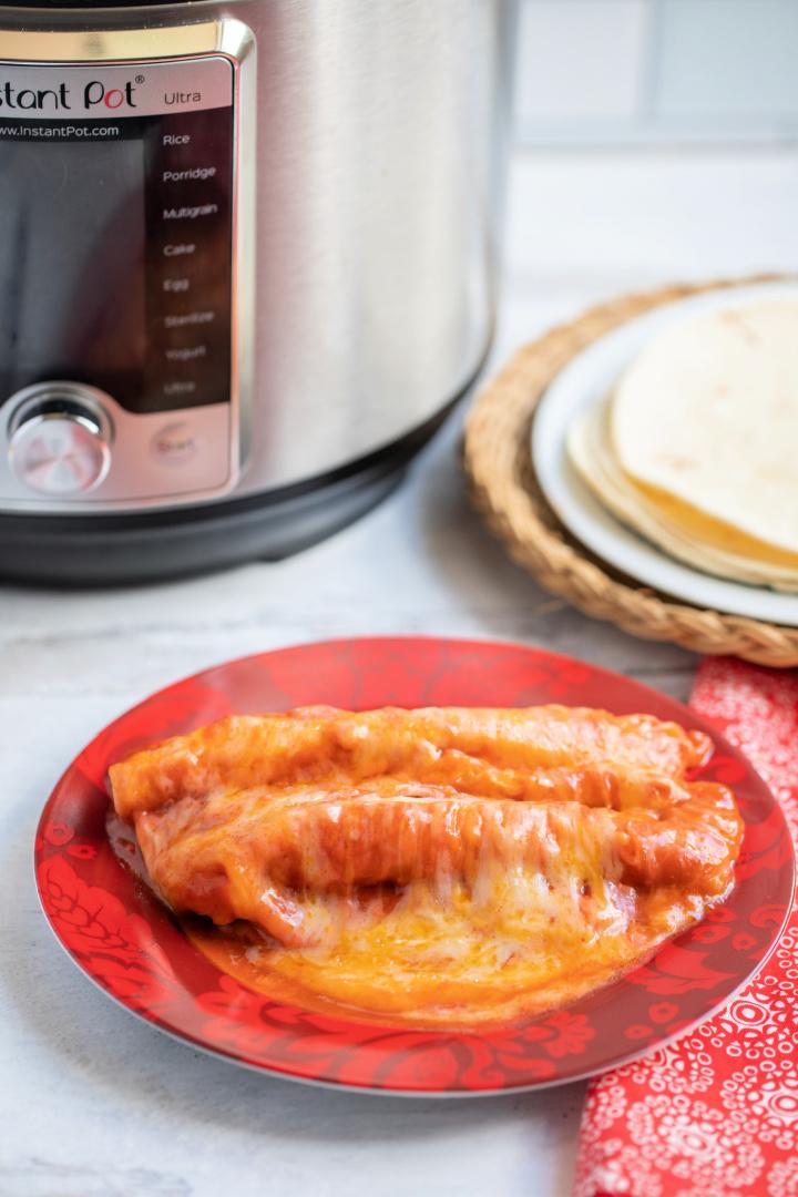 Instant Pot Easy Cheesy Beef Enchiladas