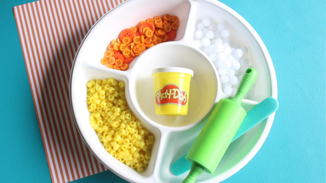 Candy Corn Halloween Craft supplies