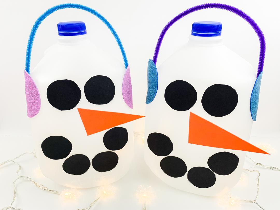 milk jug snowman craft