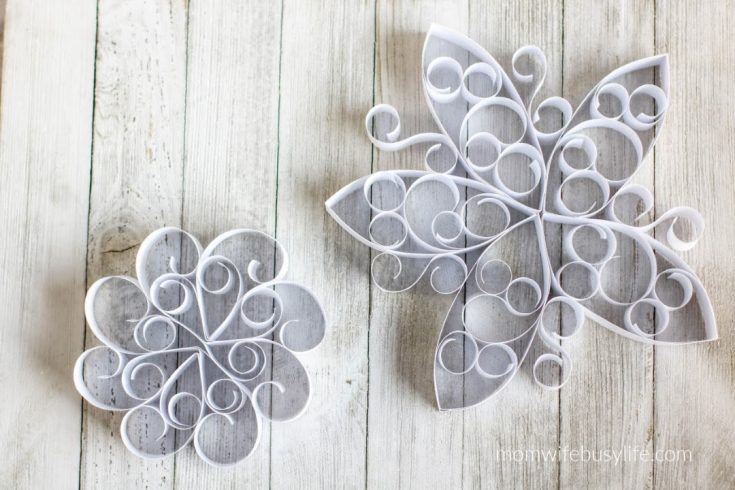 Winter Curled Paper Snowflakes