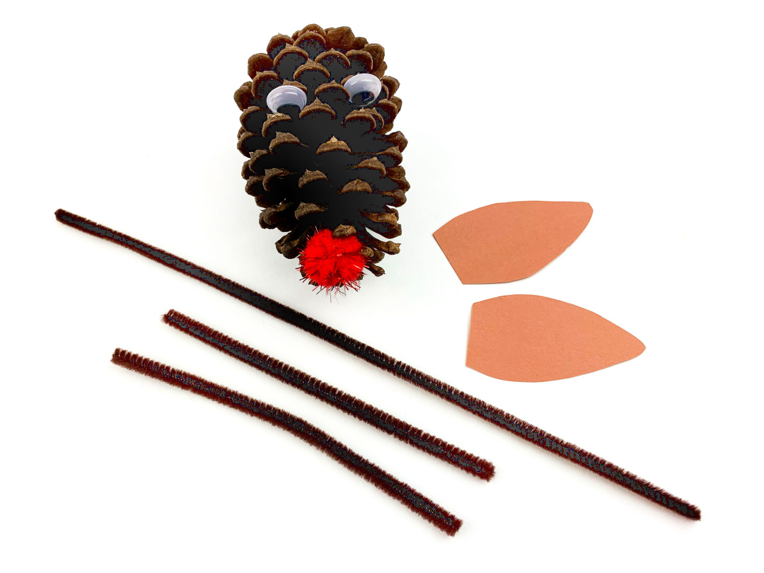 pine cone antlers