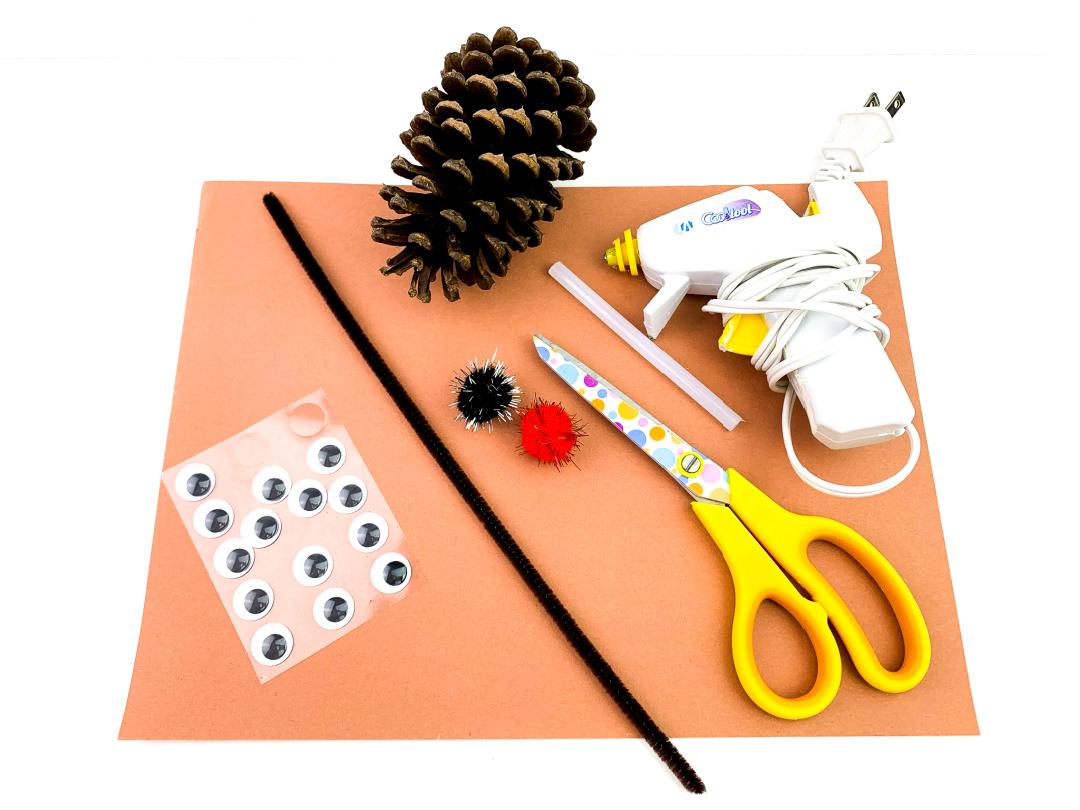 Pine Cone Reindeer supplies