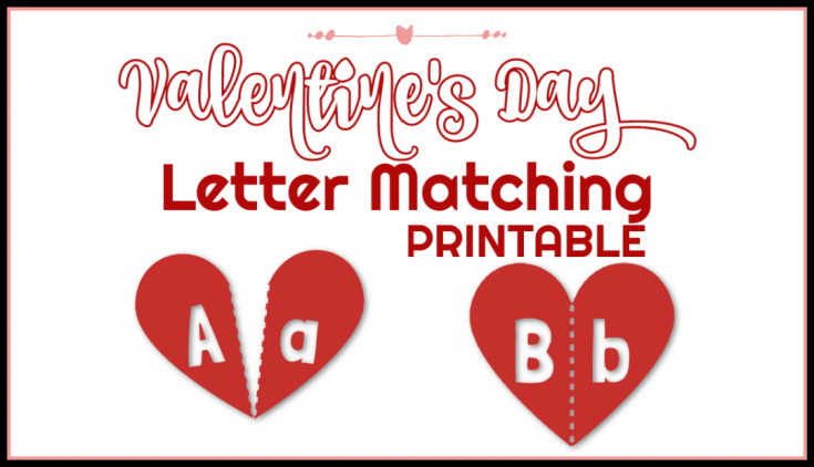 Valentine's Day Letter Matching Game