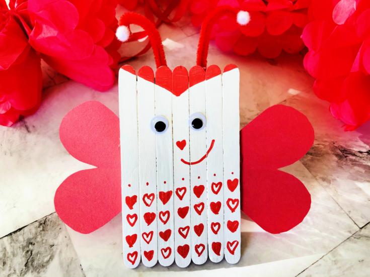 Love Bug Popsicle Stick Craft