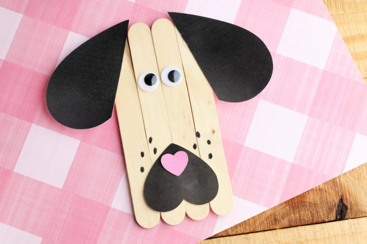 Puppy Dog Popsicle Stick Craft