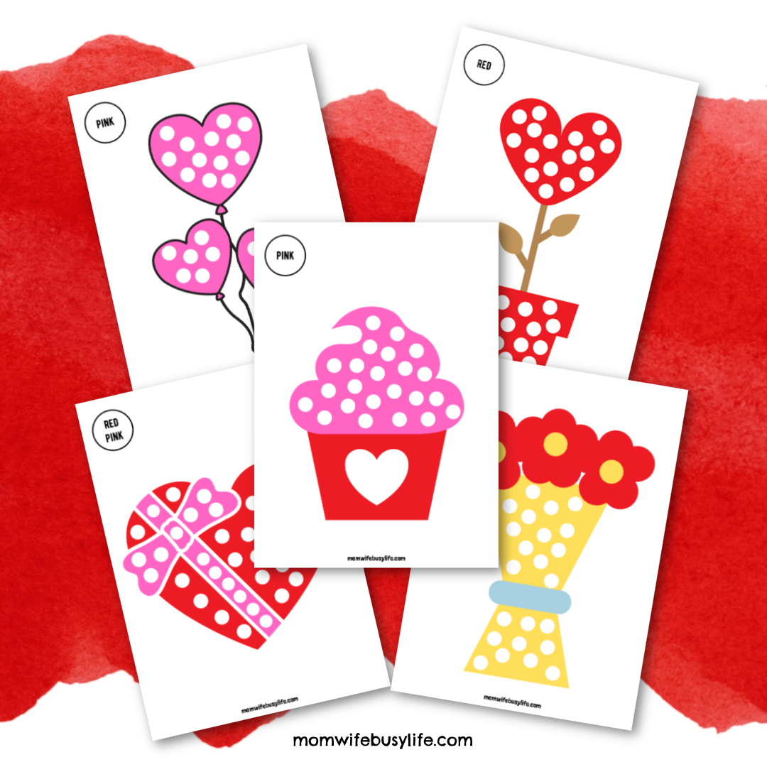 Valentine's Day Q-Tip Painting Activity