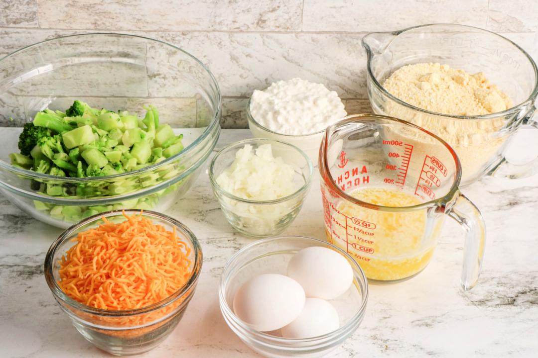 Broccoli Cornbread Ingredients