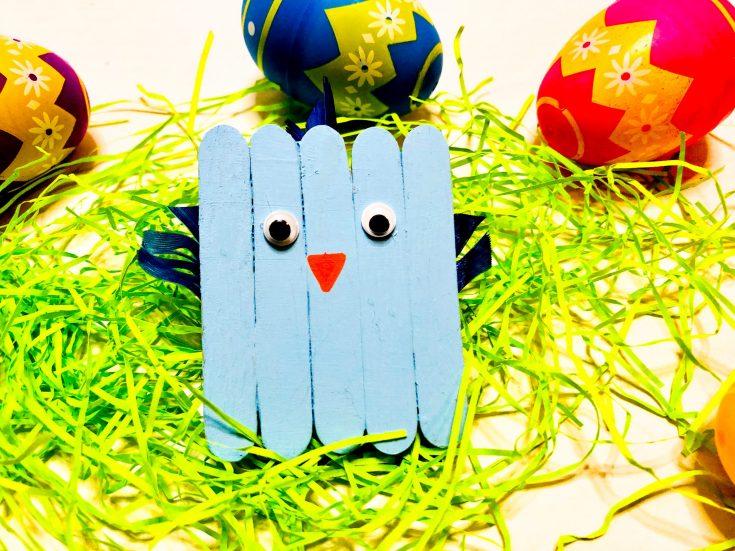 Blue Bird Popsicle Stick Craft