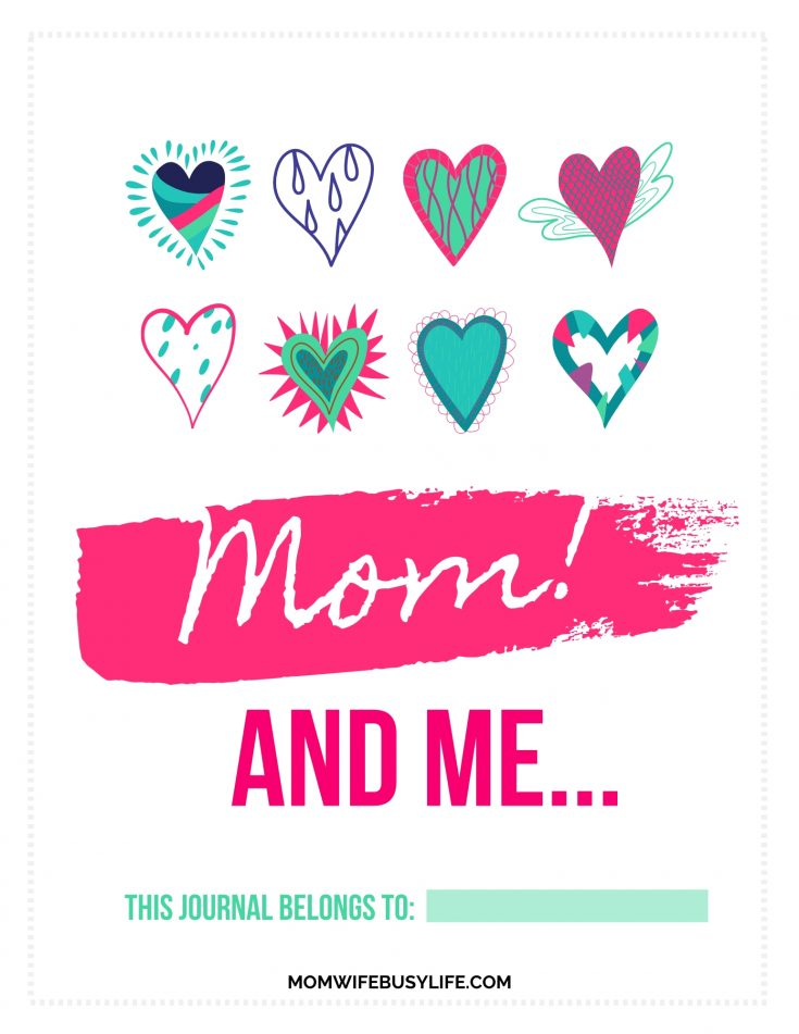 Printable Mother and Daughter Journal