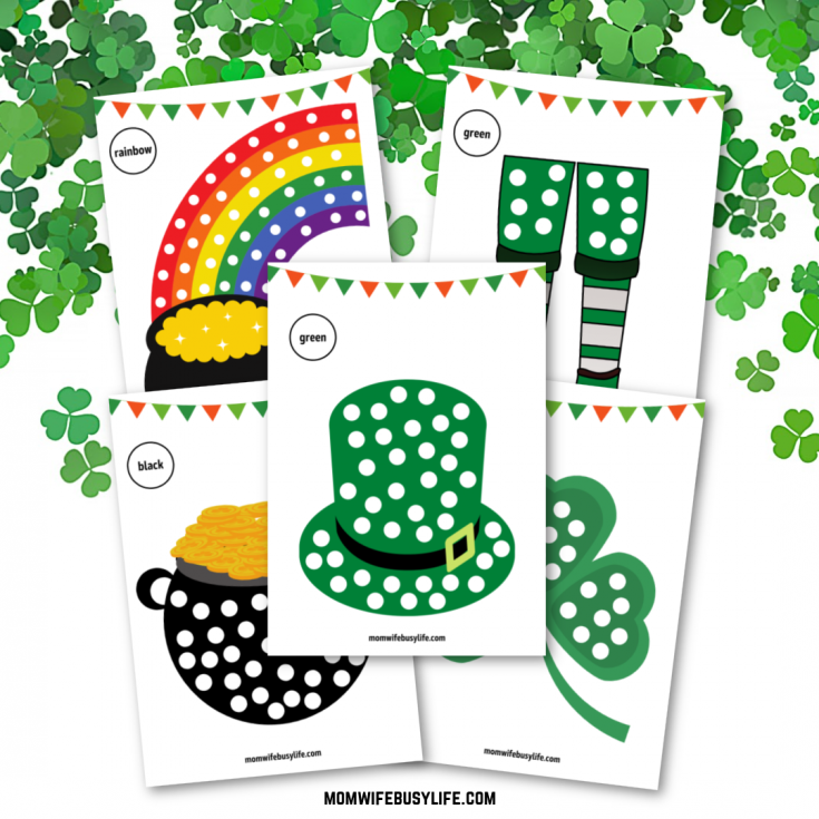 Printable St. Patrick's Day Q-Tip Painting Activity