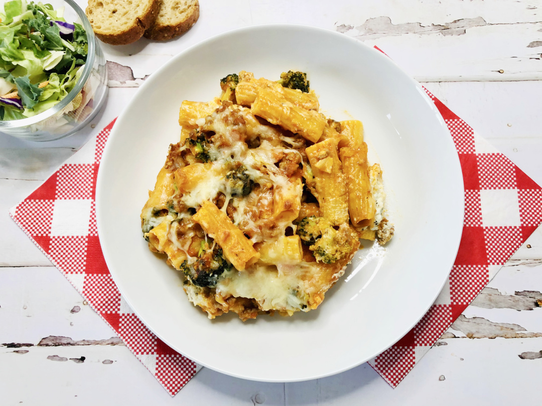 easy cheesy baked rigatoni
