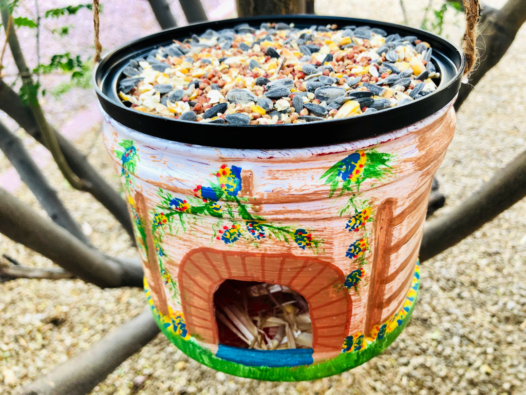 Coffee Container Bird Feeder House