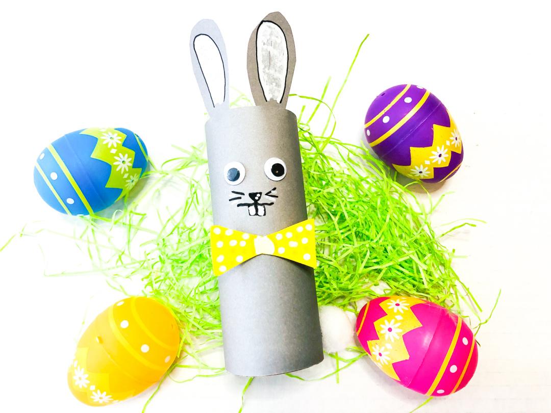 Toliet paper roll bunny