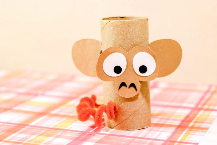Monkey Toilet Paper Roll Craft