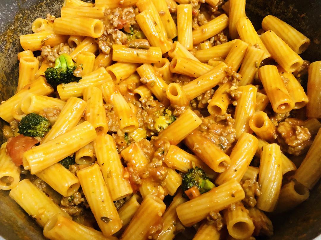 pasta mixture