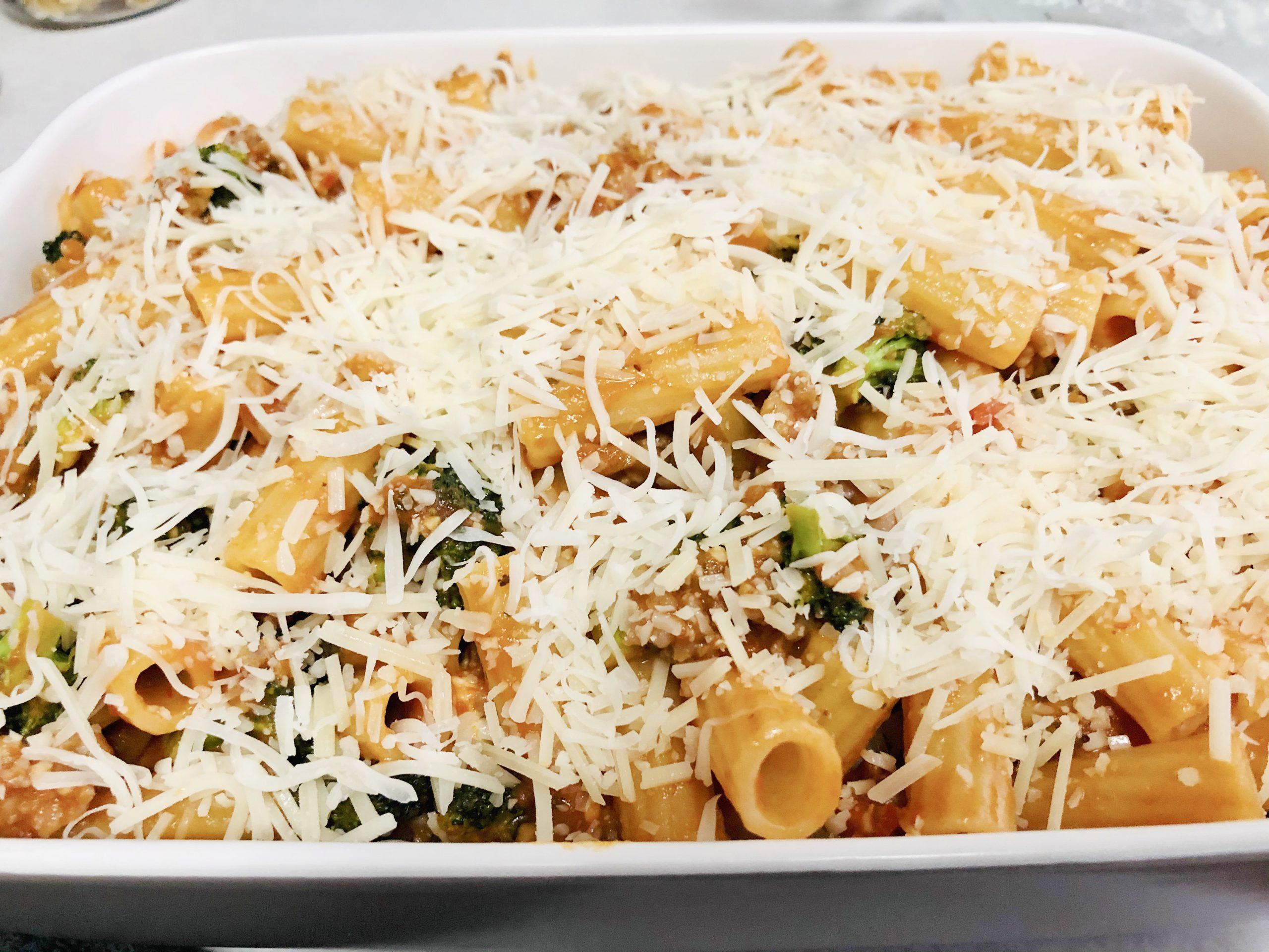 cheese on pasta