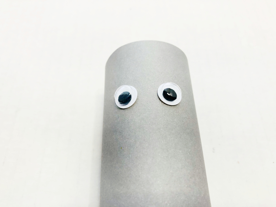 googly eyes on toilet paper roll
