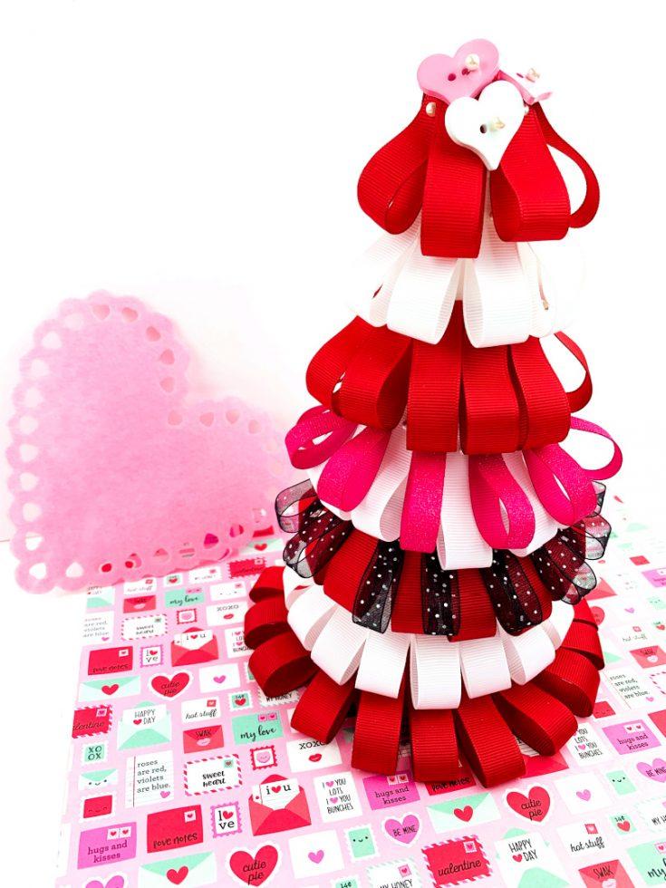 Valentine's Day Ribbon Tree Decoration