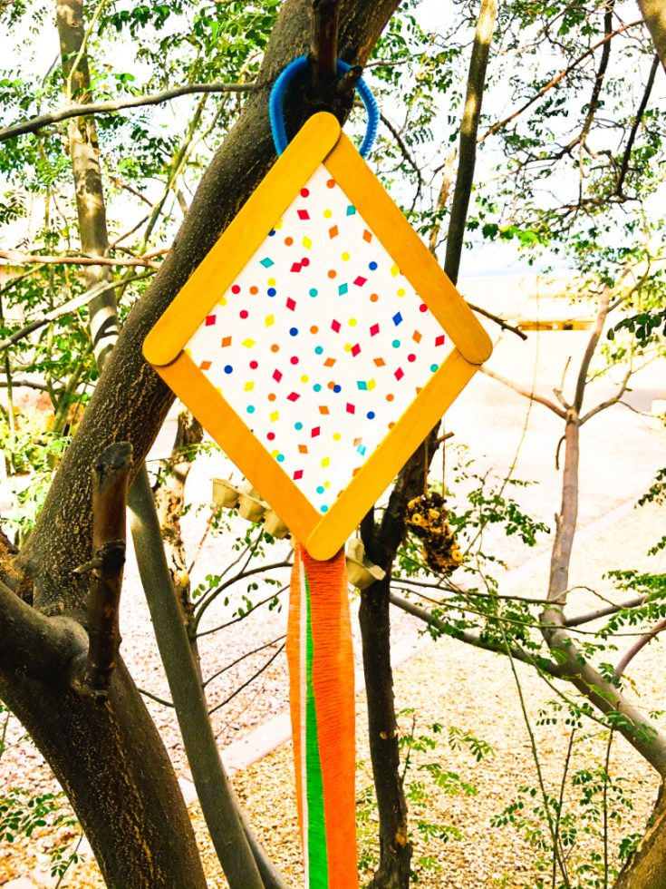 Kite Popsicle Stick Craft
