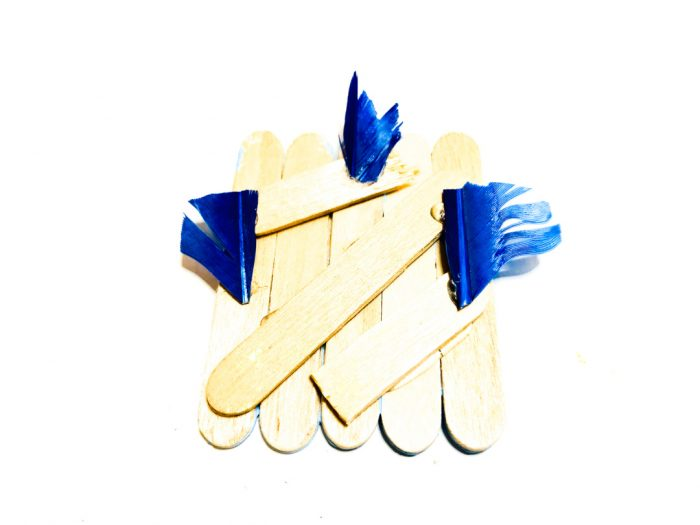 popsicle stick blue bird