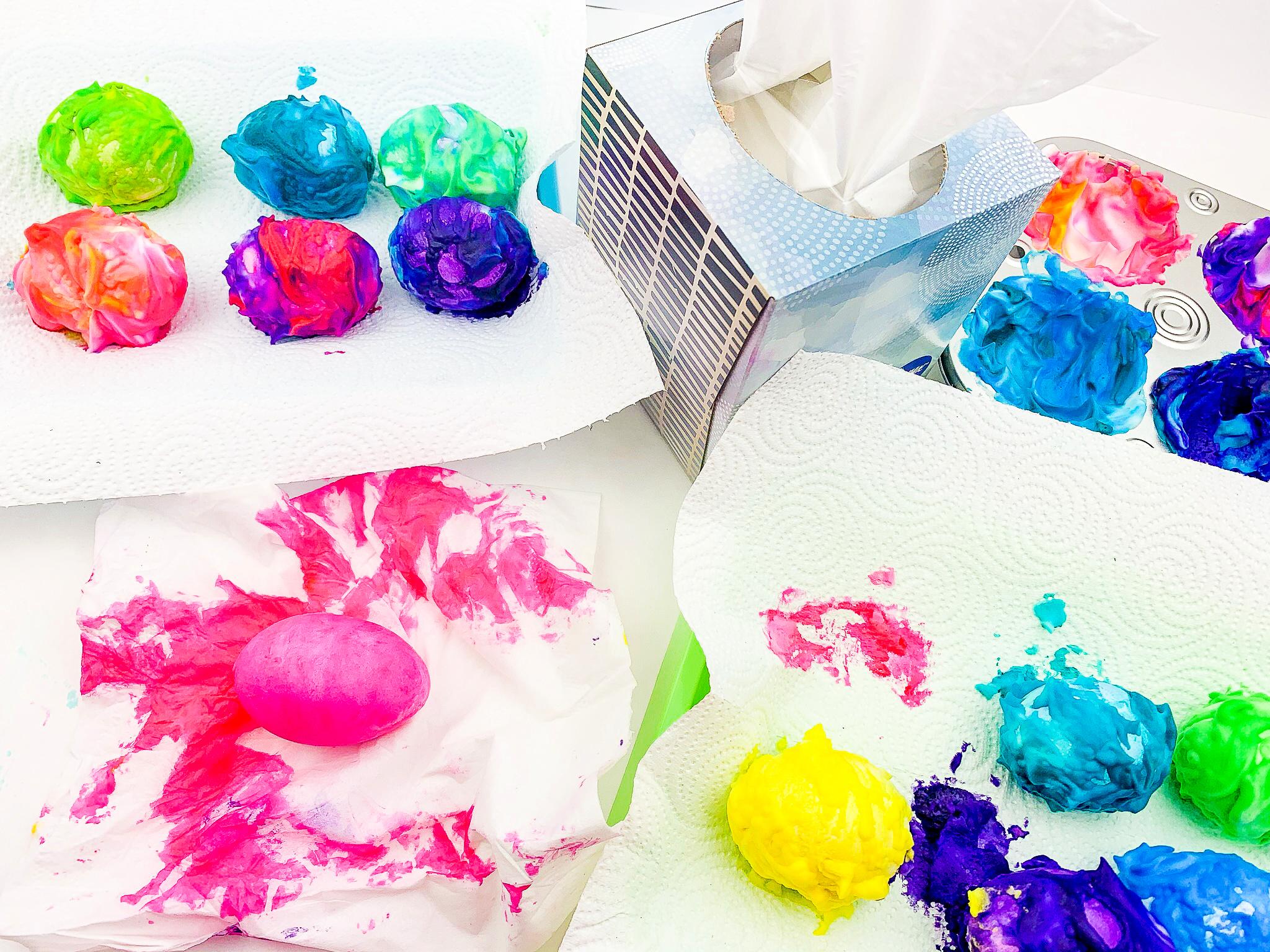 shaving cream dyed eggs