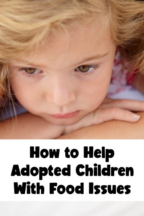 how to help adopted children with food issues