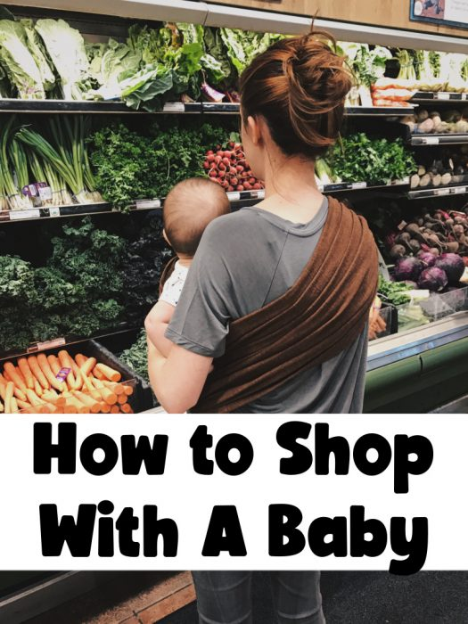 how to shop with a baby