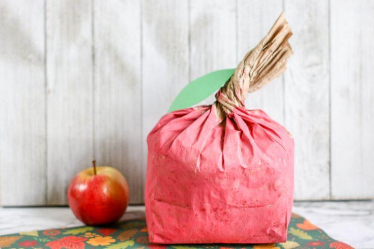 Apple Paper Bag Craft