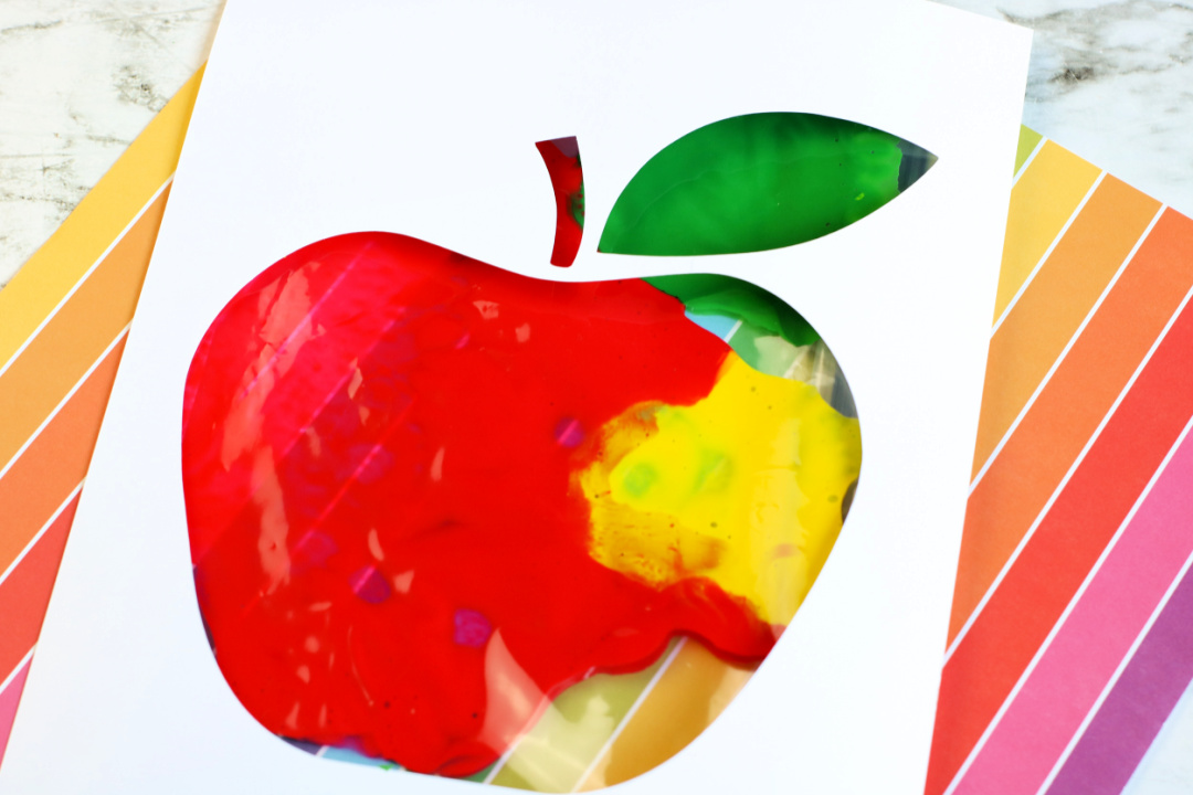 Apple Painting in a Bag Craft