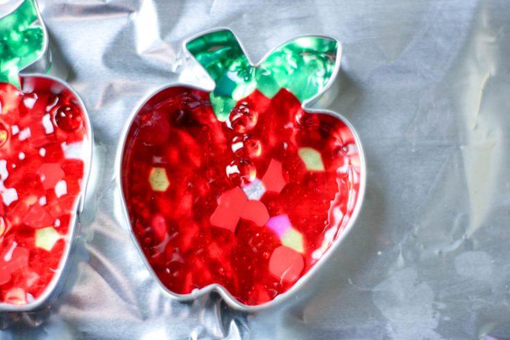 Melted Bead Suncatcher Apple Craft