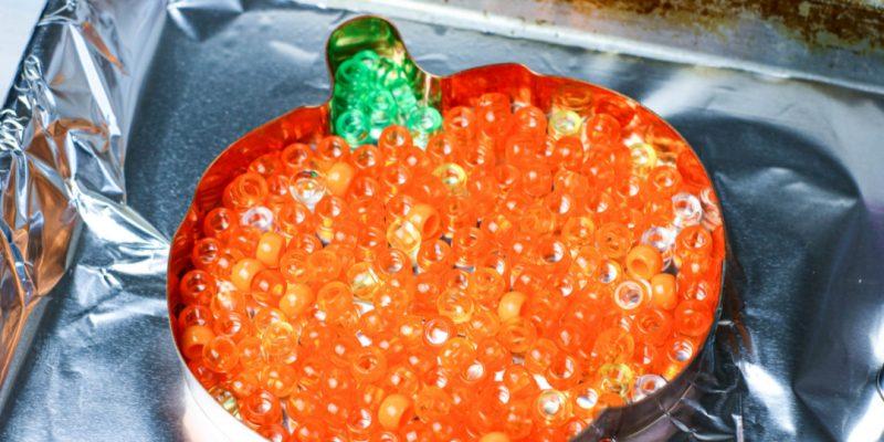 Melted Bead Suncatcher Pumpkin Craft