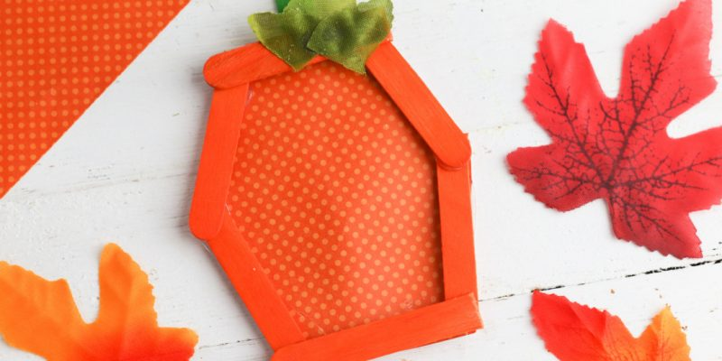 Pumpkin Popsicle Stick Craft