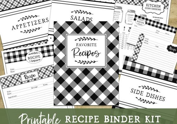 Recipe Binder Kit Ideas for Busy Moms