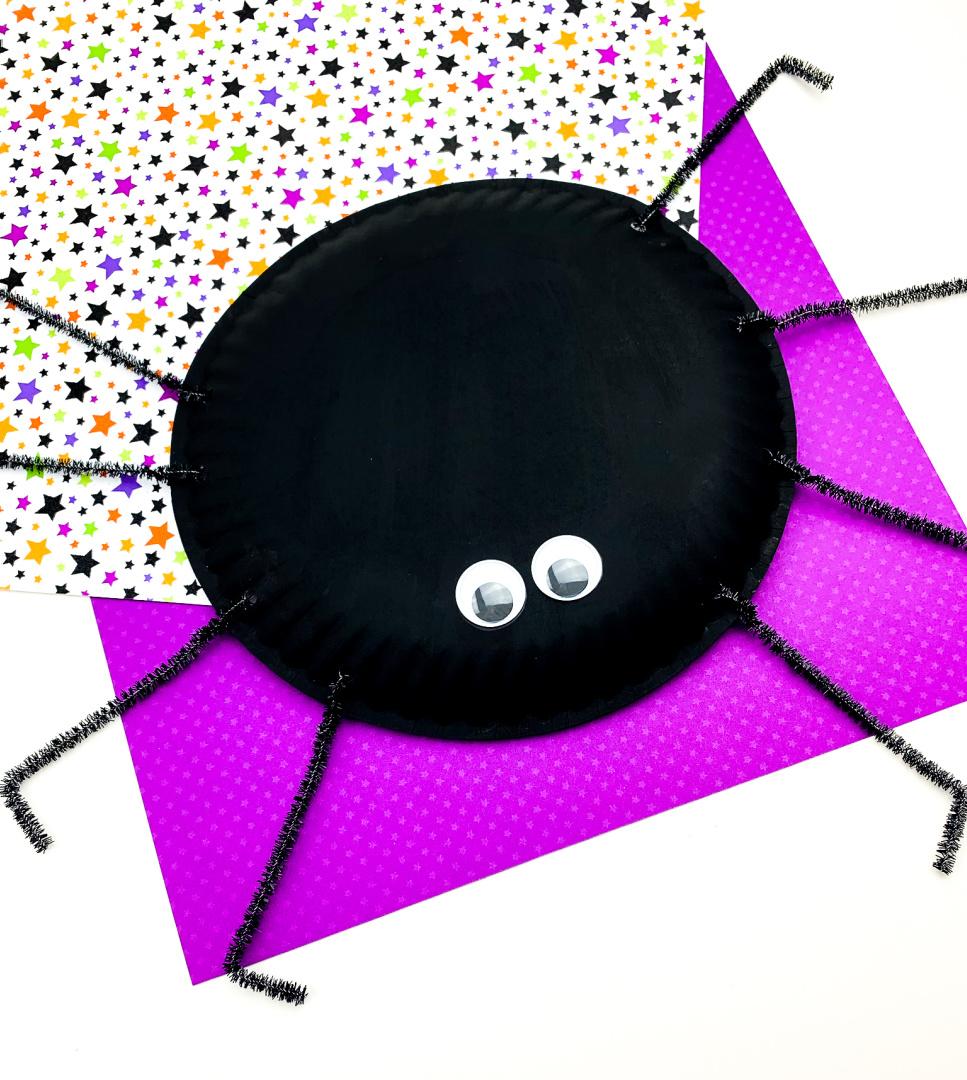 Spider Paper Plate Craft