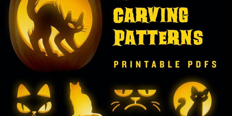 Cat Pumpkin Stencils